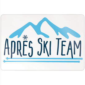 "Skiing 18"" X 12"" Aluminum Room Sign - Après Ski Team"