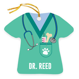 Personalized Ornament - Veterinarian Scrubs