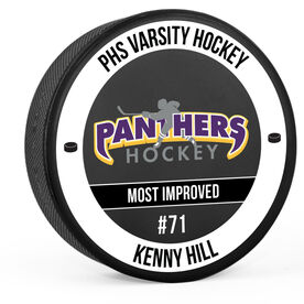 Personalized Hockey Puck - Team Awards With logo