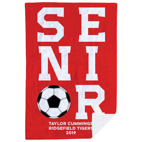 Soccer Premium Blanket - Personalized Senior