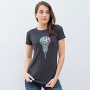 Girls Lacrosse Women's Everyday Tee - Lacrosse Stick Heart