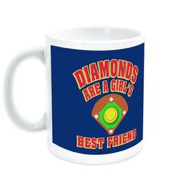 Softball Coffee Mug Diamonds Are A Girl's Best Friend