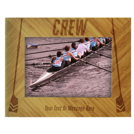 Crew Bamboo Engraved Picture Frame Crew