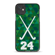Field Hockey iPhone® Case - Personalized Sticks Triangles