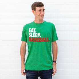 Baseball T-Shirt Short Sleeve Eat. Sleep. Baseball.