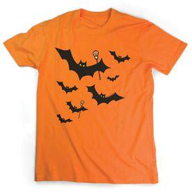 Lacrosse Short Sleeve T-Shirt - Bats with Lacrosse Sticks