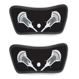 Guys Lacrosse Repwell™ Sandal Straps - Crossed Sticks with Ball Close Up