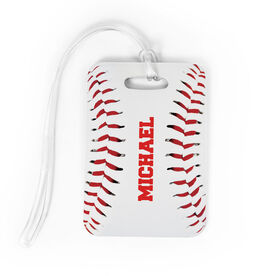 Baseball Bag/Luggage Tag - Personalized Stitches