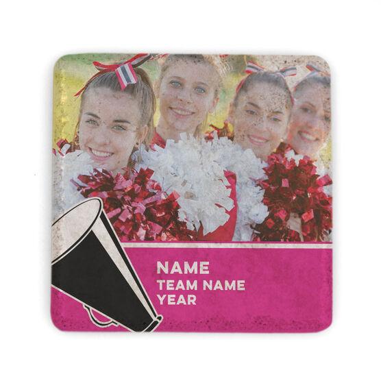 Cheerleading Stone Coaster - Team Photo with Megaphone