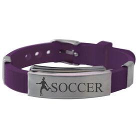 Soccer Player (F) Silicone Bracelet