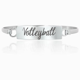 Volleyball Engraved Clasp Bracelet Volleyball