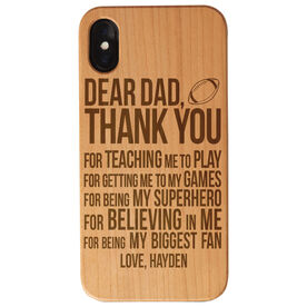 Football Engraved Wood IPhone® Case - Dear Dad