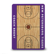 ChalkTalk Basketball Custom Wood Court Coaches Dry Erase Clipboard