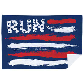 Running Premium Blanket - Run For The Red White and Blue