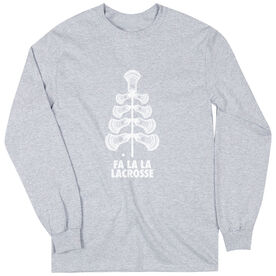 Guys Lacrosse Long Sleeve Tee - Fa La La Tree