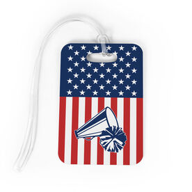 Cheerleading Bag/Luggage Tag - USA Cheer Girl