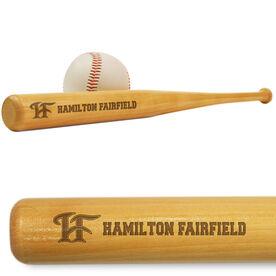 Mini Baseball Bat - Hamilton Fairfield Logo