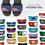 Softball Repwell® Sandal Straps - American Flag Ball