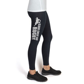 Rugby High Print Leggings Blood Sweat Rugby Female