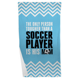 Soccer Beach Towel Tougher Than A Soccer Player