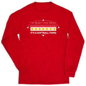 Softball Tshirt Long Sleeve - 24-7 Softball