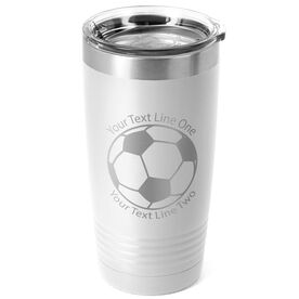 Soccer 20 oz. Double Insulated Tumbler - Ball Icon