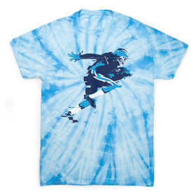 Football Short Sleeve T-Shirt - In The Blur Of A Moment Tie Dye