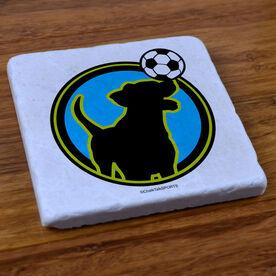 Soccer Dog - Stone Coaster
