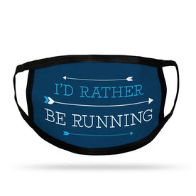 Running Adult Face Mask - I'd Rather Be Running