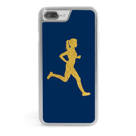 Running iPhone® Case - Runner Girl Faux Glitter