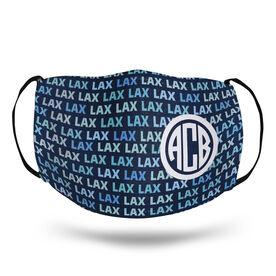 Girls Lacrosse Face Mask - Monogram with Lax Pattern