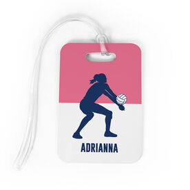 Volleyball Bag/Luggage Tag - Personalized Girl Silhouette