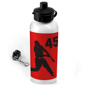 Baseball 20 oz. Stainless Steel Water Bottle Personalized Batter