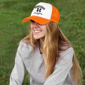 Cheerleading Trucker Hat - Team Name With Curved Text