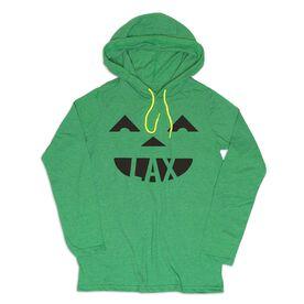 Guys Lacrosse Lightweight Hoodie - LAX Pumpkin Face