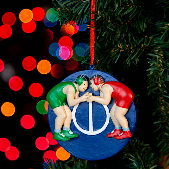 Wrestling Ornament - Two Wrestlers in Neutral Position
