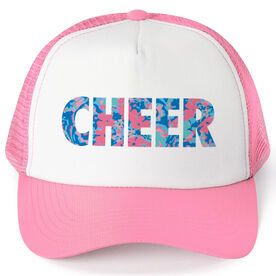 Cheerleading Trucker Hat - Floral Cheer