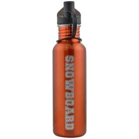 Snowboarding 24 oz Stainless Steel Water Bottle - Snowboard