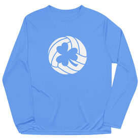 Volleyball Long Sleeve Performance Tee - Shamrock Volleyball