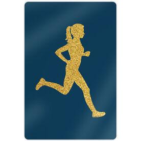 """Running 18"""" X 12"""" Wall Art - Runner Girl Faux Glitter"""