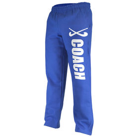 Field Hockey Fleece Sweatpants Field Hockey Coach With Sticks