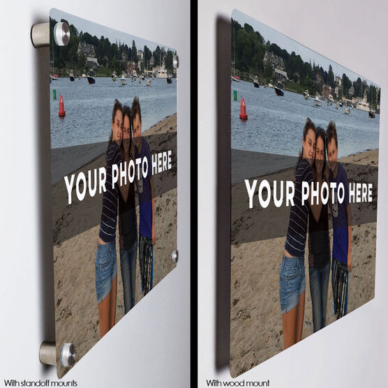 "Personalized 18"" X 12"" Aluminum Room Sign - Custom Photo Horizontal"