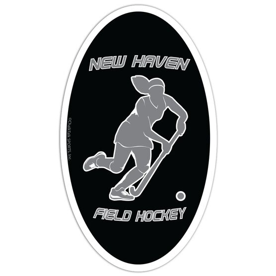 Field Hockey Oval Car Magnet Personalized Player