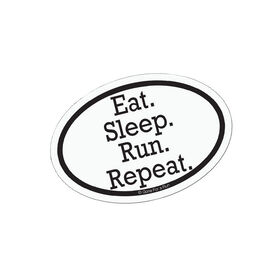 Eat Sleep Run Repeat Mini Car Magnet - Fun Size
