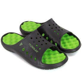 PR SOLES® - Sandals for Rowers - Black/Neon Green