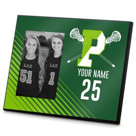 Wood Frame - Pentucket Youth Girls Lacrosse Logo (GREEN)