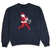 Baseball Crew Neck Sweatshirt - Baseball Santa