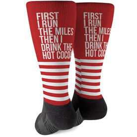 Running Printed Mid-Calf Socks - Then I Drink The Hot Cocoa