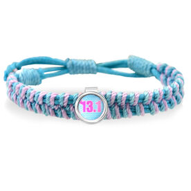 13.1 Blue Chevron Adjustable Woven SportSNAPS Bracelet