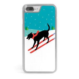 Skiing iPhone® Case - Vintage Dog